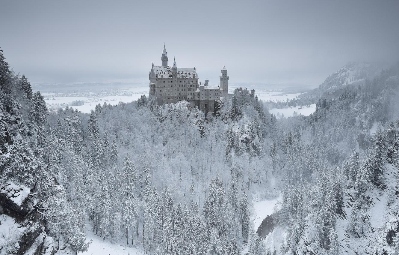 Фото обои Germany, Bavaria, Neuschwanstein Castle