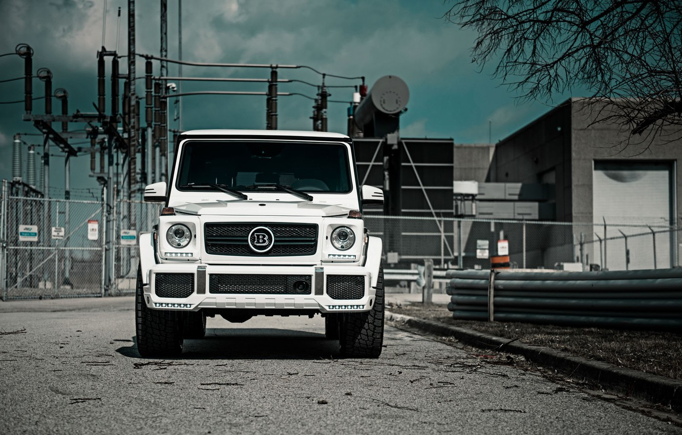 Фото обои Mercedes, Front, AMG, White, G63, Face, W463