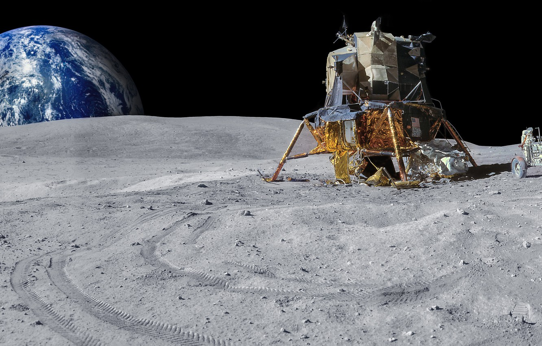 фото лунохода на луне спицами
