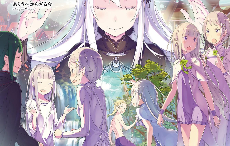Фото обои аниме, арт, персонажи, С нуля, Re: Zero Kara Hajimeru Isekai Seikatsu