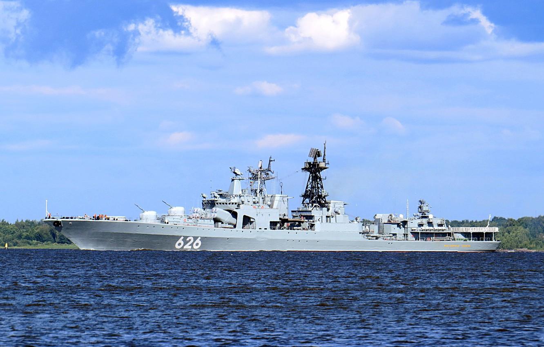 Фото обои большой противолодочный корабль, вице адмирал кулаков, северный флот