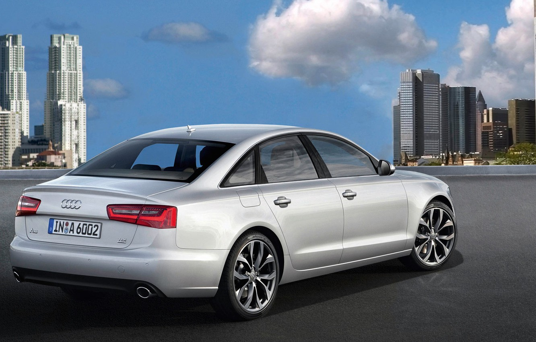 Фото обои город, Audi