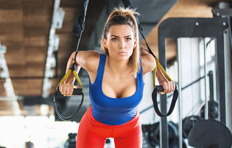 Фото обои model, female, workout