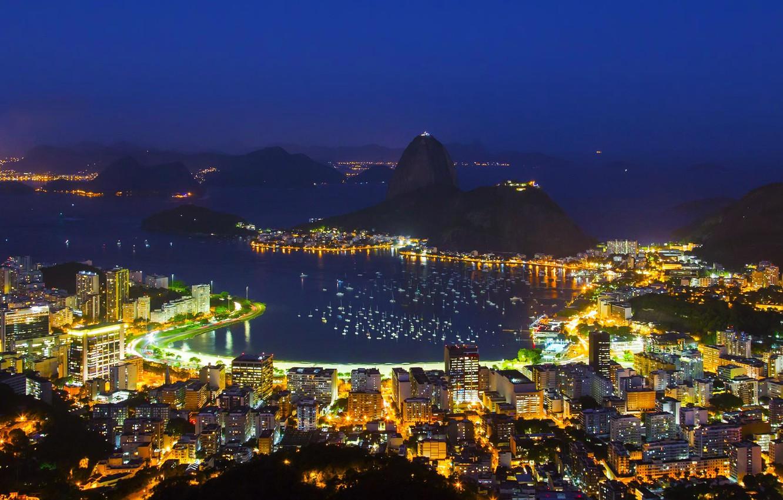 Обои гуанабара, Бразилия, бухта, рио-де-жанейро, Залив. Города foto 12