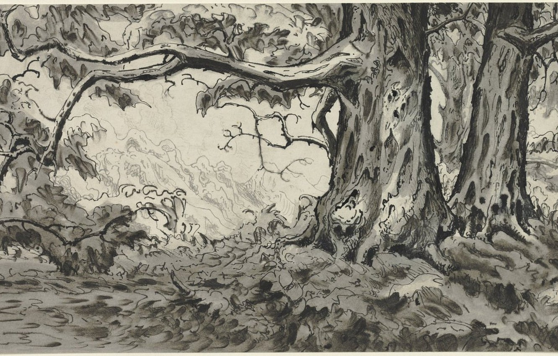 Фото обои 1920, Charles Ephraim Burchfield, Chestnut Trees