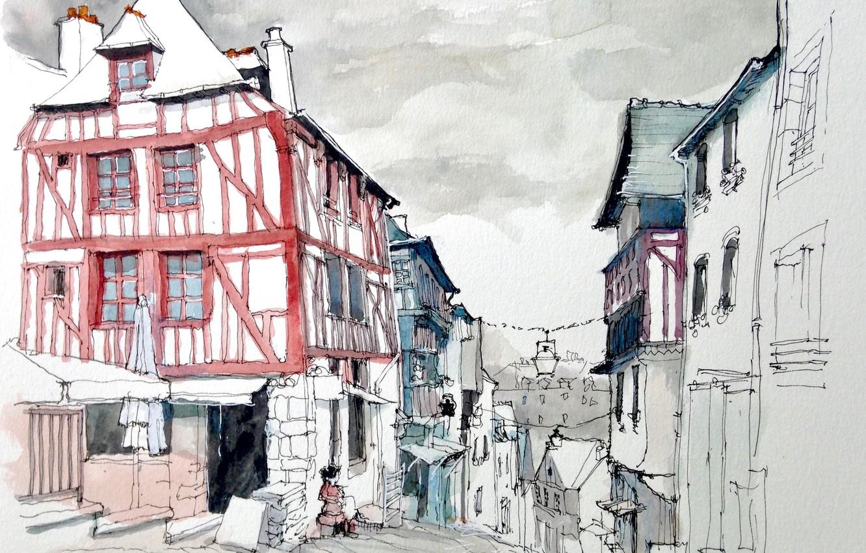 удачно город картинки рисунки костре