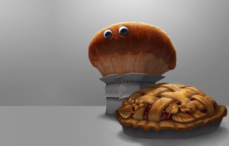 Фото обои настроение, арт, хлеб, каравай, MMMM pie!, Servando Lupini