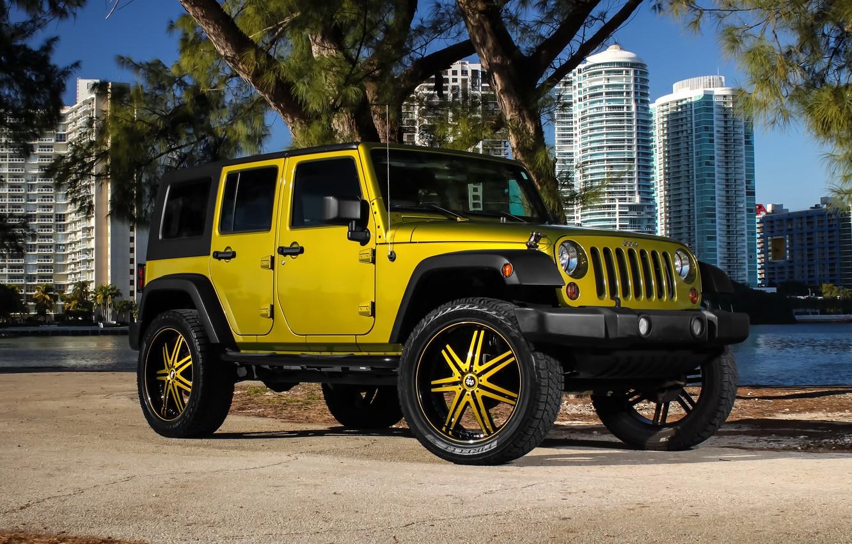 Фото обои color, Wrangler, Jeep, kit, suspension, lift, wheels., Status