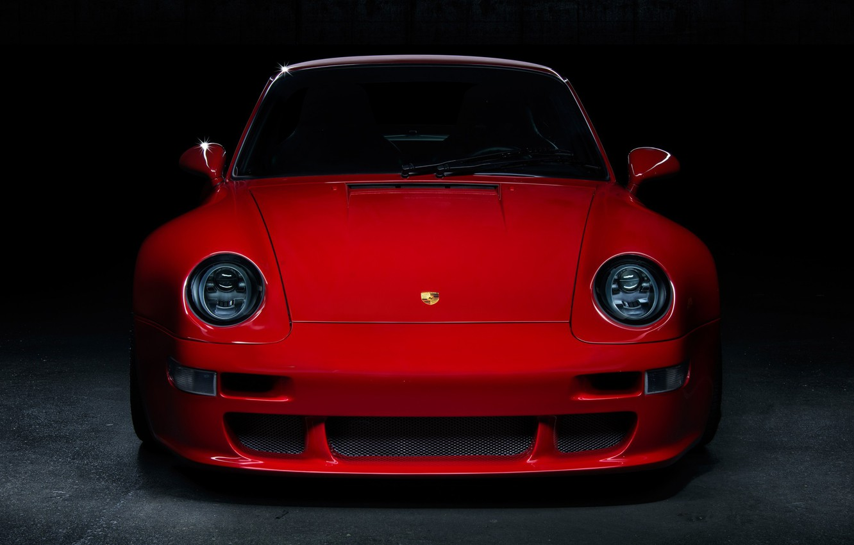 Фото обои red, front, garage, 993, classic cars, Porsche 993