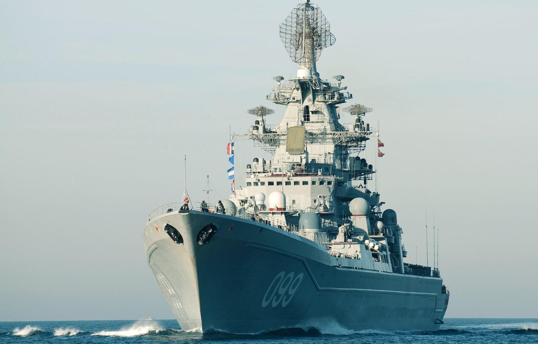 Фото обои Крейсер, ВМФ России, Проект 1144