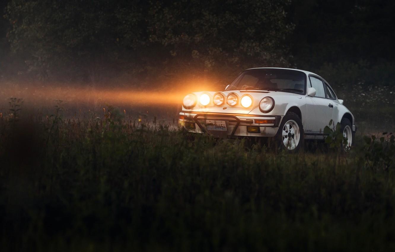Фото обои свет, фары, Porsche 911, Safari, Porsche 911 Safari