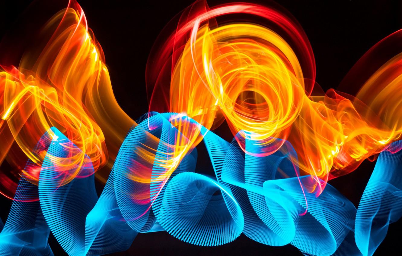 Фото обои абстракция, полосы, темный фон, узор, яркость