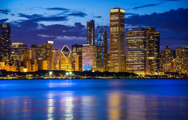 Обои небоскребы, мичиган, chicago, чикаго, иллиноис. Города foto 17