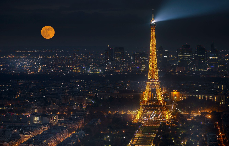 Обои ночной париж. Города foto 8