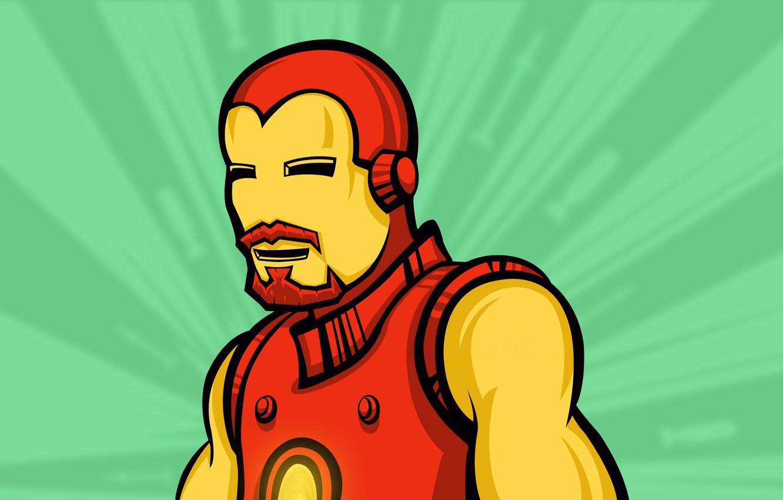 Фото обои усы, герой, Железный человек, retro, Iron Man, Marvel, комикс, comics, hero, усатый, Тони Старк, Tony …