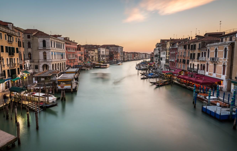 Фото обои Италия, Венеция, канал, Italy, Venice, cityscape, Panorama, channel, Grand Canal