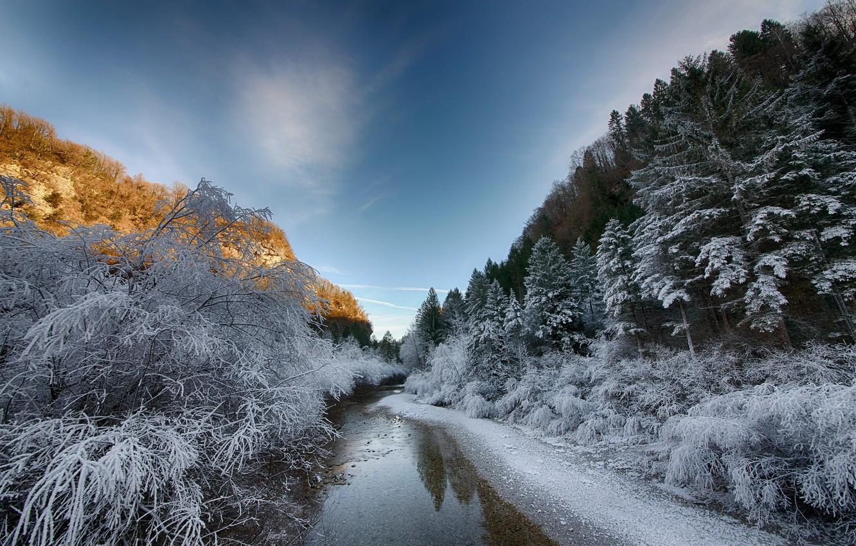 для фото зимы и речки один сезон