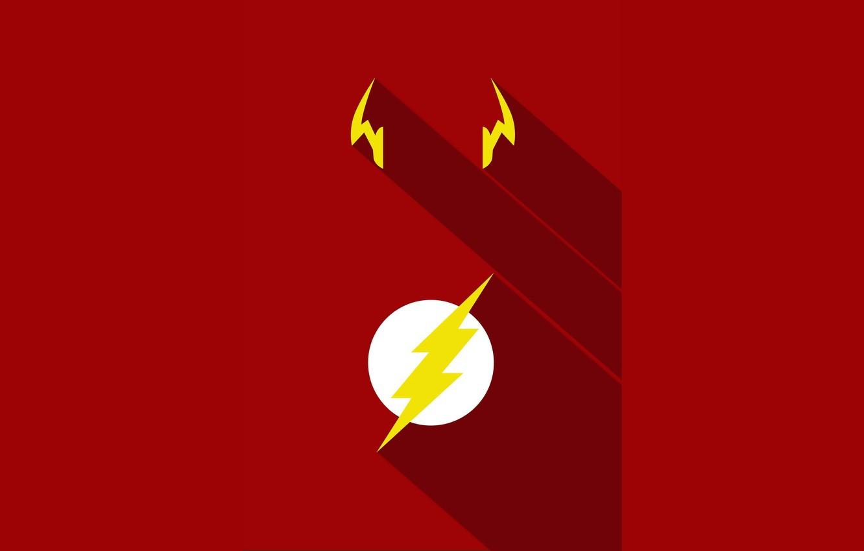 Фото обои red, logo, yellow, hero, DC Comics, Flash, yuusha, tv series, The Flash, Barry Allen, Jay …