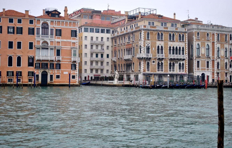 Фото обои city, город, Италия, Венеция, канал, Italy, panorama, гондола, Europe, view, Venice, cityscape, travel, canal, gondola