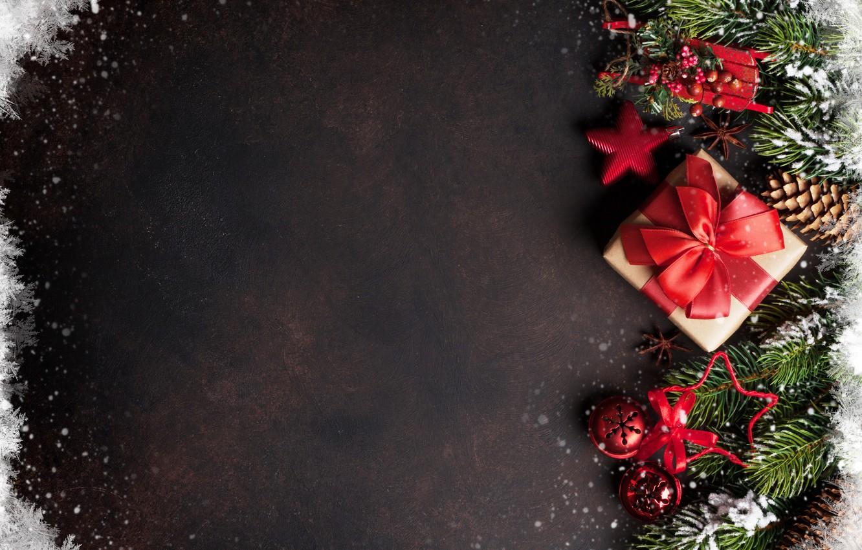 Фото обои украшения, подарок, Новый Год, Рождество, happy, Christmas, New Year, Merry Christmas, Xmas, gift, decoration, holiday …