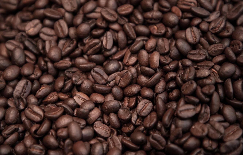 Фото обои кофе, зерна, текстура