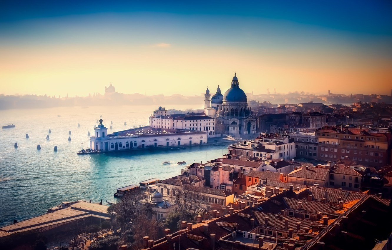 Фото обои вода, город, здания, Италия, Венеция, канал