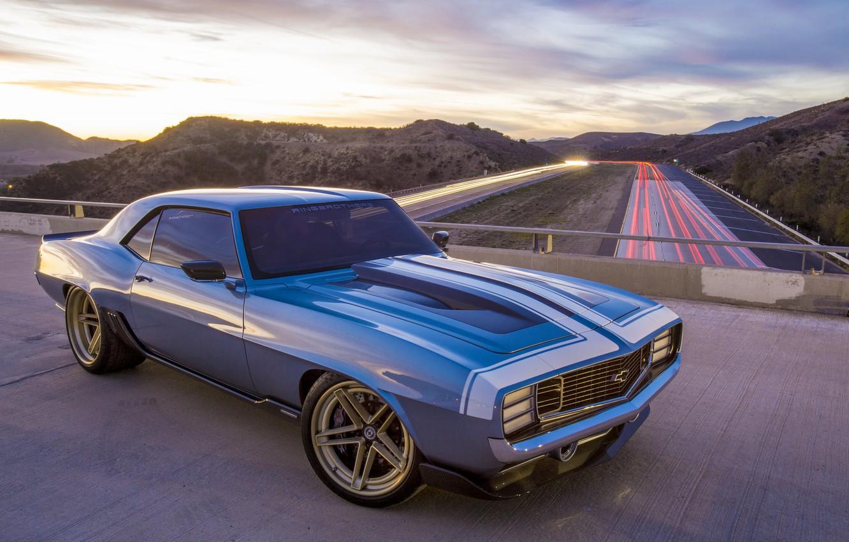 Фото обои Chevrolet, 1969, Camaro, bridge