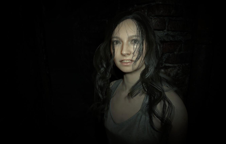 Фото обои girl, game, long hair, woman, Mia, Resident Evil, brunette, Capcom, fear, Biohazard, official wallpaper, terror, ...