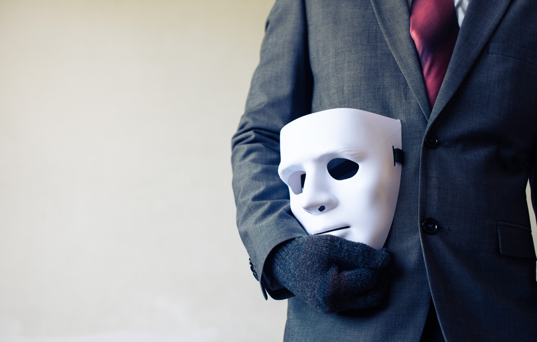 Фото обои mask, costume, white mask