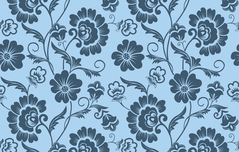 Фото обои цветы, фон, узор, текстура, орнамент, винтаж