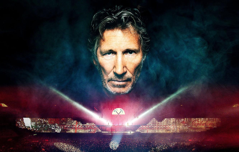 Фото обои Pink Floyd, men, legend, the wall, rockstar, Roger Waters