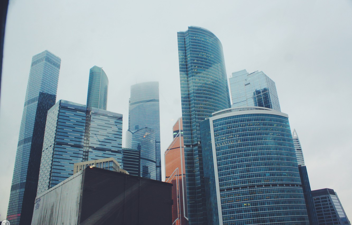 Фото обои glass, skyscraper, moscow, height, moscow city