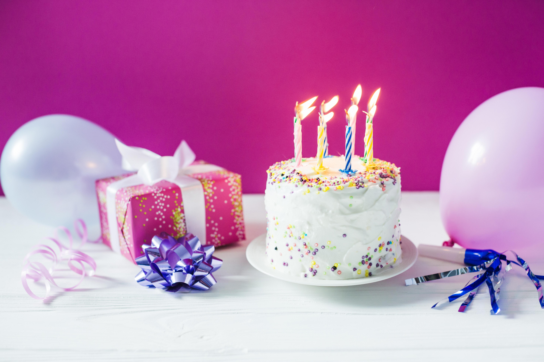 blue birthday candles - HD2880×1800