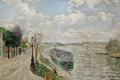 Картинка город, река, пейзаж, Поль Синьяк, картина, Сент-Уэн. Набережная
