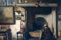 Картинка интерьер, масло, Антон Мауве, картина, Мастерская Живописца