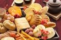 Картинка печенье, китайские закуски, завтрак, чай, чайник, сладости