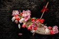 Картинка цветы, зонтик, гламур, тюльпаны, фото на рабочий стол