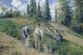 Картинка Уборка Урожая. Понтуаз, Камиль Писсарро, жанровая, пейзаж, картина