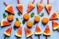 Картинка мандарины, Арбуз, цитрусы, ягоды