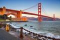 Картинка мост, цепь, залив, Сан-Франциско, форт, Золотые ворота