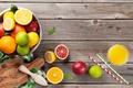 Картинка лимон, лайм, напиток, грейпфрут, фреш, стакан сока