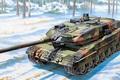 Картинка Леопард 2А6, немецкий основной боевой танк, Leopard