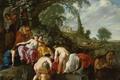 Картинка Дочь Фараона находит Моисея в Камышах, Moses van Uyttenbroeck, мифология, масло, картина, дерево