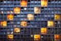 Картинка окна, город, здание, свет, архитектура
