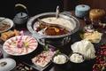 Картинка суп, мясо, овощи, блюда, ассорти