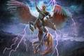 Картинка Pegasuscentaur, горы, молния, Edikt Art, Пегасокентавр