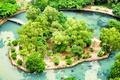 Картинка Вьетнам, Мосты, Пруд, Парк, Ninh Binh, Tropical Garden