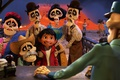 Картинка Coco, animated film, Pixar, sull, skull and bones, boy, eyes, hat, animated movie, bones