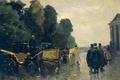 Картинка масло, картина, холст, Виллем де Зварт, Коляски с Кучерами в Ожидании