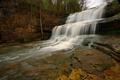 Картинка каскад, скалы, деревья, водопад, поток, вода, США